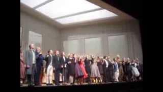 Der Rosenkavalier Première Antwerpen 15/12/2013 curtain call - Regie: Christoph Waltz