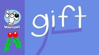 Draw The Word Gift Into A Cartoon ( Wordtoon Gift )