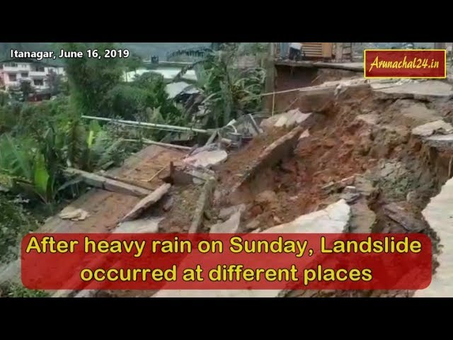 Itanagar- After heavy rain on Sunday, Landslide in Minister's Bungalow, Pantaloon showroom