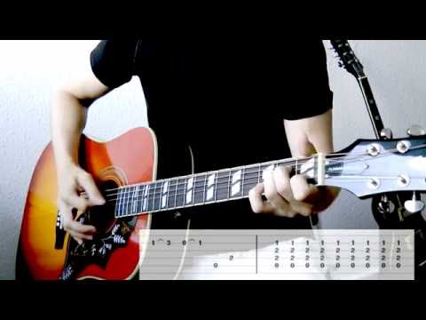 Tenacious D - Tribute (Intro) Guitar Cover w/Tabs on screen