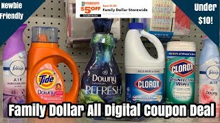 Family Dollar | Easy ALL Digital $5/25 Couponing Deal Under $10! | 11/10