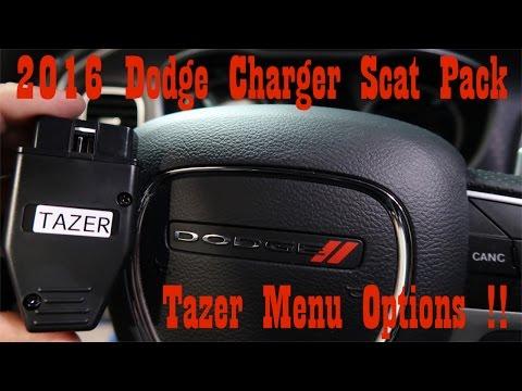 2016 Charger Scat Pack Tazer (menu and dash run through)