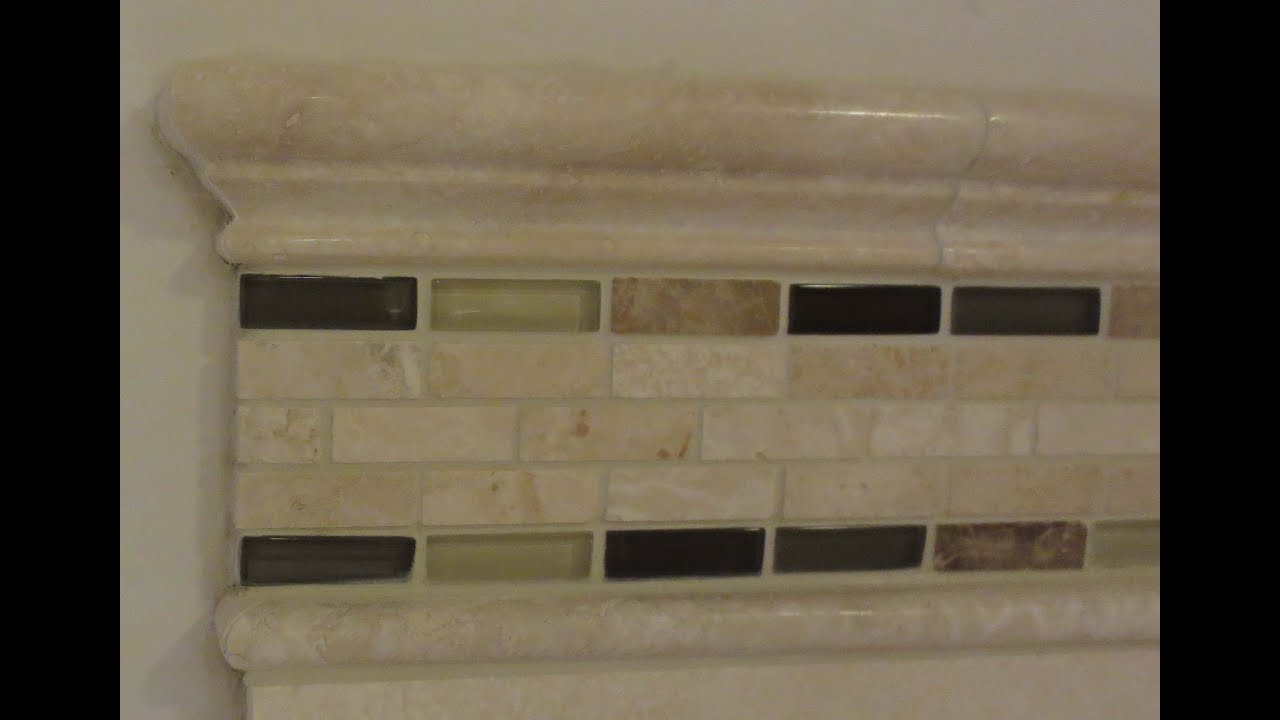 How to install a mosaic tile border - YouTube