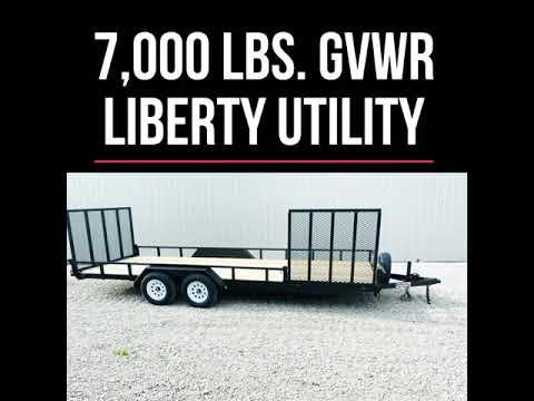 Liberty Dual Ramp Utility Trailer.
