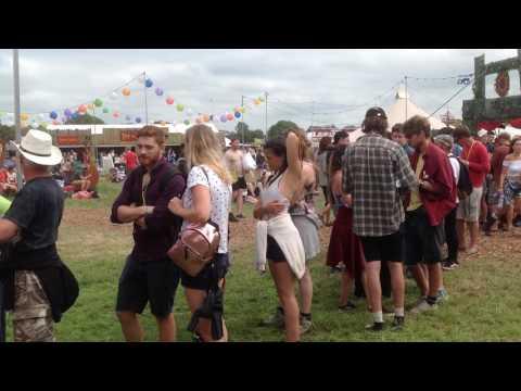 Free food distribution at Glastonbury Festival 2017
