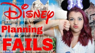 DISNEY VACATION PLANNING 2019 Biggest Planning Mistakes!