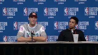 Brook Lopez & Malcolm Brogdon Postgame Interview - Game 5 | 2019 NBA Playoffs