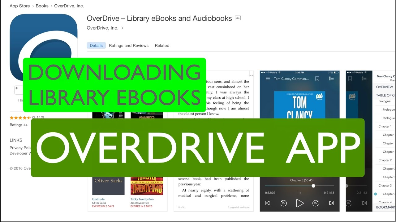 Downloading Library eBooks with the OverDrive App - Deerfield Library eTutor