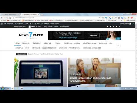 Make newspaper or blogging website with in 30 minutes in wordpress | by magento 2 tutorials in hindi