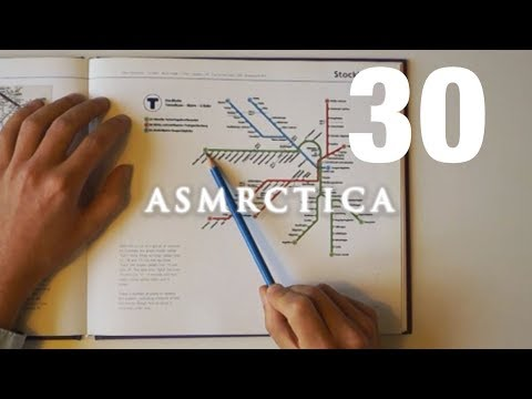 ASMR Metro Map of Stockholm - Soft spoken Geography Show and Tell
