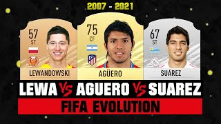 Lewandowski VS Suarez VS Aguero FIFA EVOLUTION! 😱🔥| FIFA 07 - FIFA 21