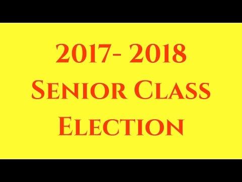 EMHS 2017-2018 Senior Class Election