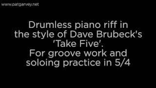 Take Five Style Drumless Backing Track in 5/4