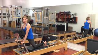 Front Splits On The Reformer Variation 1 Of 3 Lesley Logan Pilates