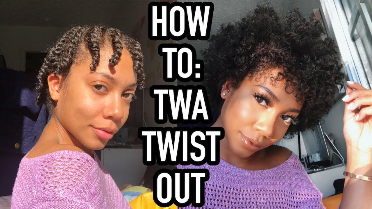 twist short natural hair