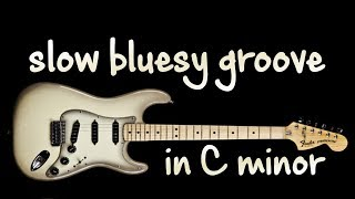 Gambar cover Slow Bluesy Groove Backing Track in C minor