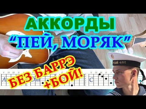 Пей моряк Аккорды Бой Армейские песни Разбор на гитаре Текст