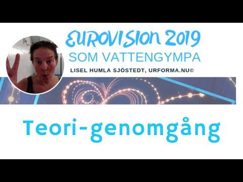 Teori-genomgång Eurovision 2019 som vattengympa