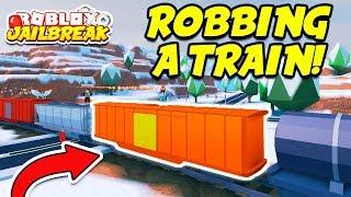 ROBBING THE NEW JAILBREAK TRAIN!! (Roblox Jailbreak Winter Update)