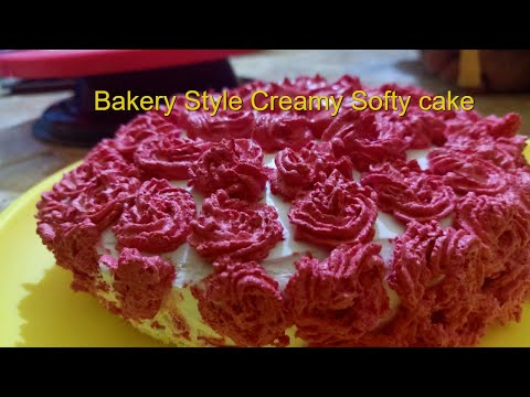 Cake / How to Prepare Very Simple Cake At home / Classic Cake Style /Creamy cake