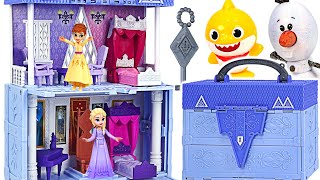 Invite you to Frozen2 Arendelle Castle! Make a Olaf with Elsa, Baby shark | PinkyPopTOY