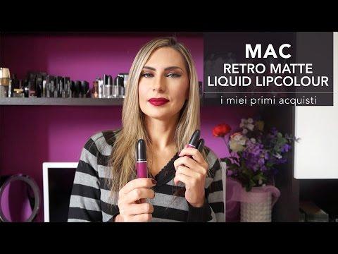 Matte LipstickPrimi Acquisti Mac Swatches Liquid Retro Con Sulle nP8k0NwOX