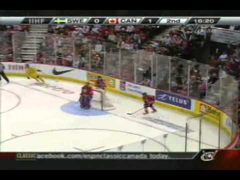 Canada vs  Sweden 2nd Period 2009 IIHF World Juniors Championship Gold Medal Game Part 4