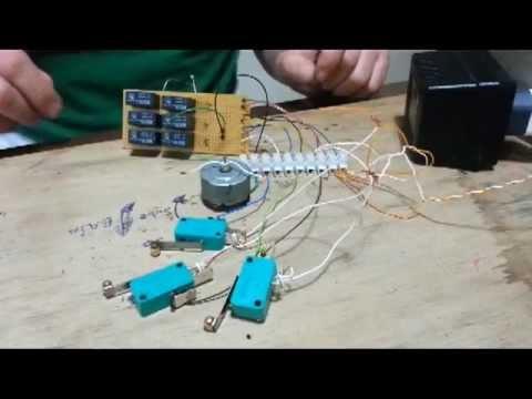 Gt.0 >> prueba del circuito de un ascensor didactico de tres plantas - YouTube