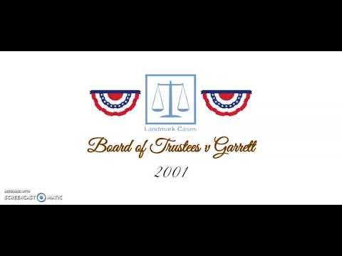 Board of Trustees v Garrett (2001)