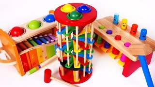 Pounding Ball Table Learning Toys for Children Learn Colors