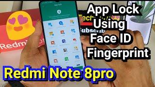 Redmi Note 8pro app lock using fingerprint and face id screenshot 2