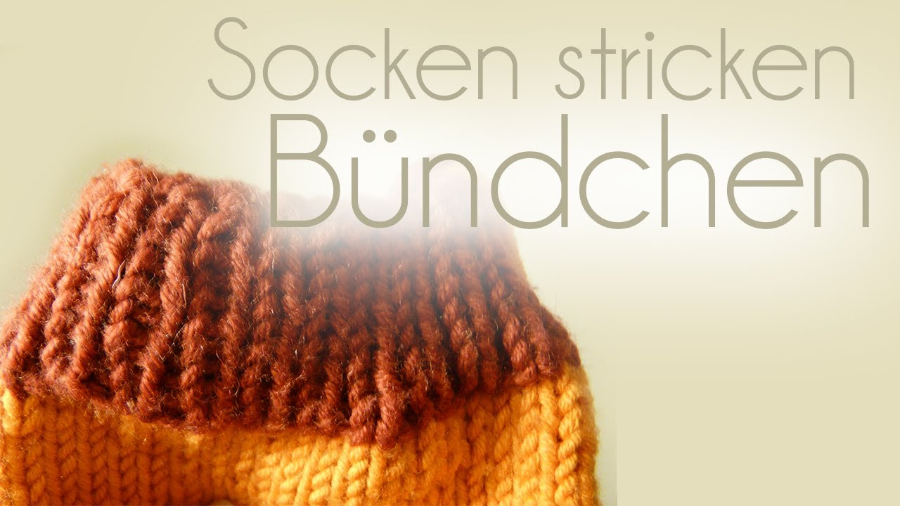 socken stricken teil 2 b ndchen youtube. Black Bedroom Furniture Sets. Home Design Ideas