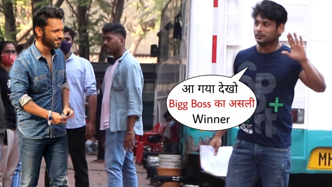 Sidharth Shukla and Rahul Vaidya Humble Gesture with Media Person as Spotted in Mumbai City