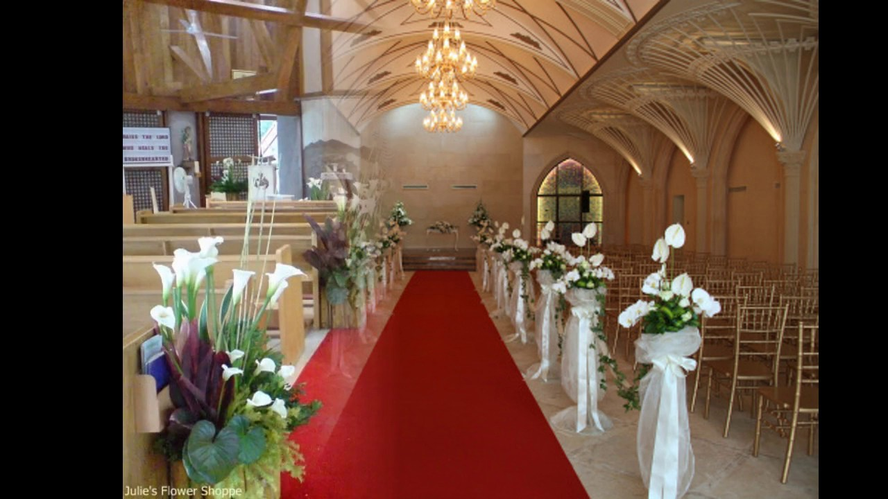 Decoraciones de la boda de la iglesia youtube for Budas decoracion interior