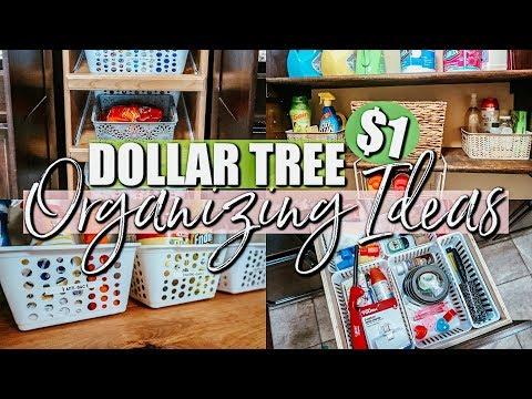 DOLLAR TREE ORGANIZATION IDEAS  ORGANIZING ON A BUDGET  HOME ORGANIZATION INSPIRATION