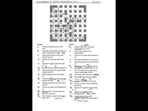 Daily Telegraph Prize Crossword 29562 Walkthrough And Answers Sat Jan 2nd 2021 Youtube