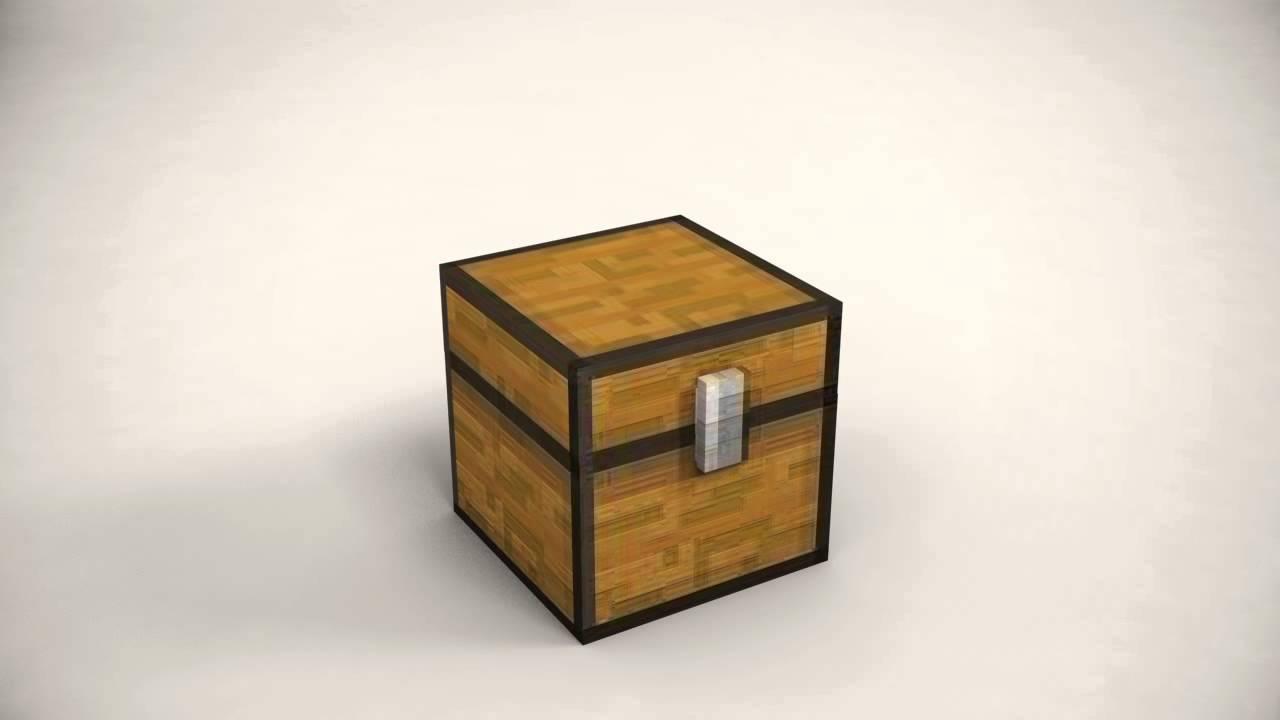 Minecraft Chest TEST Animation - YouTube