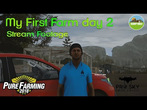 Pure Farming 2018 Lets work though My First Farm Mode day 2  (Twitch Footage)