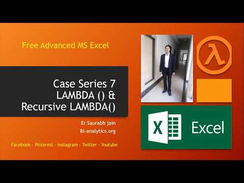 Using Lambda & Recursive Lambda to create user defined custom function Excel