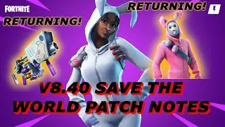 Fortnite Save The World V8.40 PATCH NOTES!