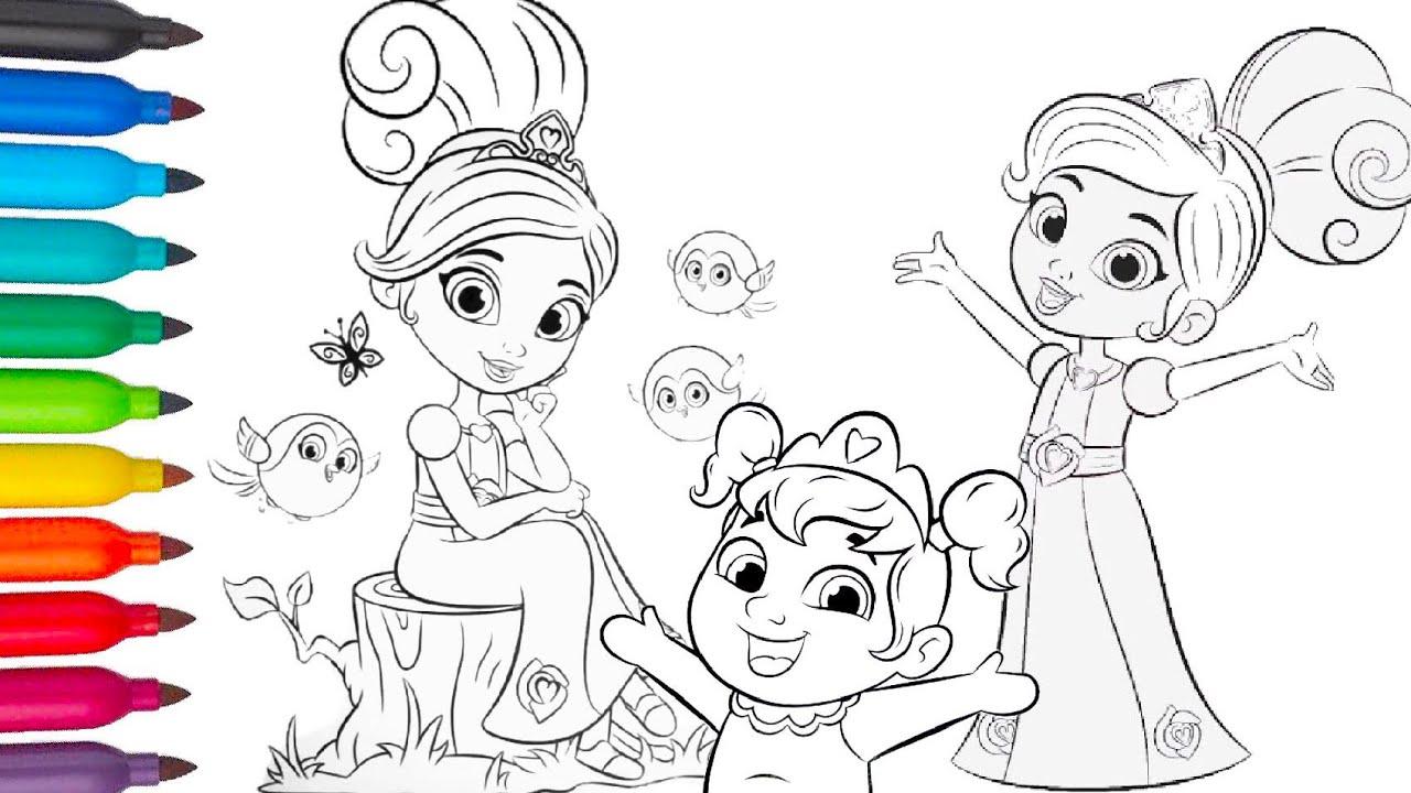 Nella The Princess Knight Compillation Baby Nella Sister Color Book Nella Otvazhnaya Princessa Youtube