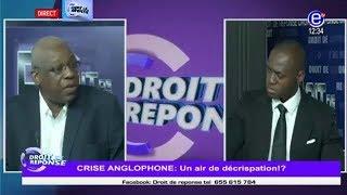 Droit d reponse du 03 09 17. Crise anglophone: Un air de decrispation?