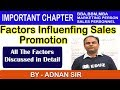 Factors Influencing Sales Promotion Growth-Marketing Management In Hindi BBA MBA BBM B.Com