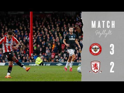 Брентфорд  3-2  Мидлсбро видео