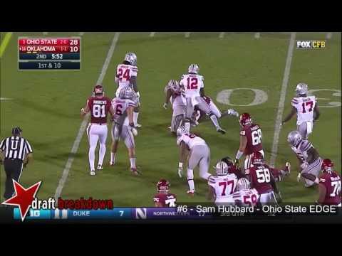 Sam Hubbard (Ohio State EDGE) vs Oklahoma 2016