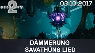 Destiny 2 Dämmerung Prestige: Savathûns Lied (German/Deutsch)