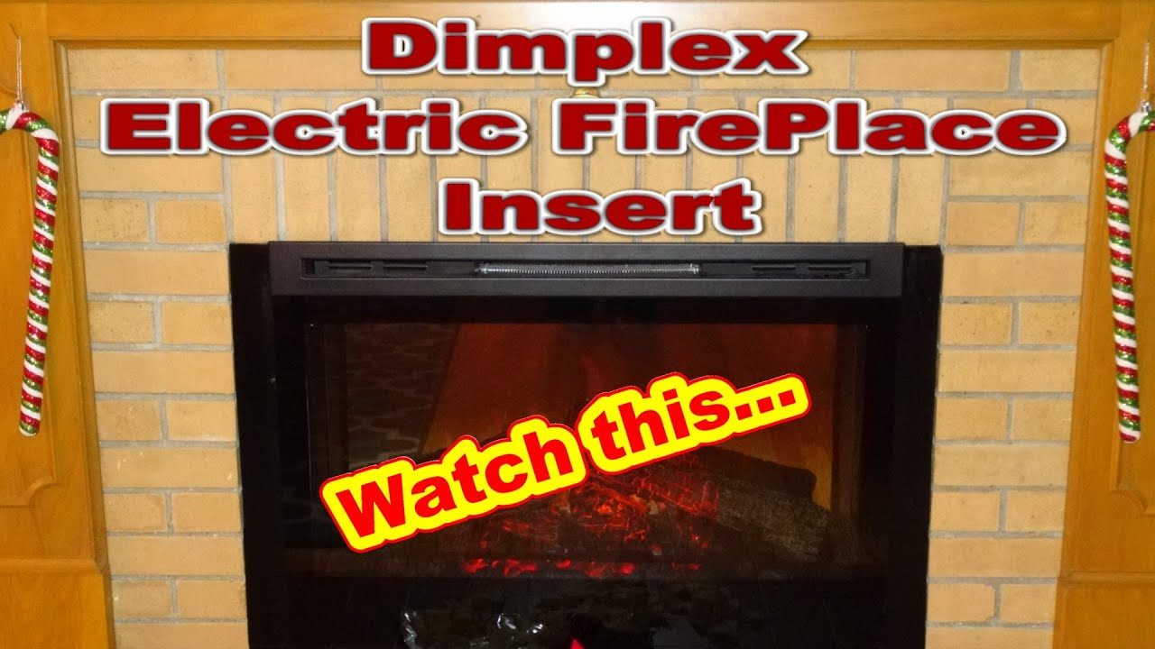 Dimplex Electric Fireplace Insert Model Df3033 St Youtube