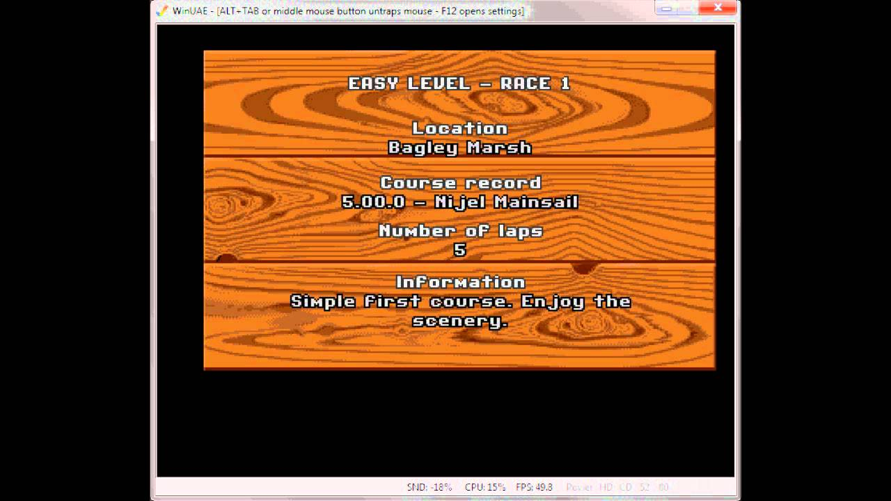 How to play Super Cars II on your pc: Amiga 500 PC Emulator