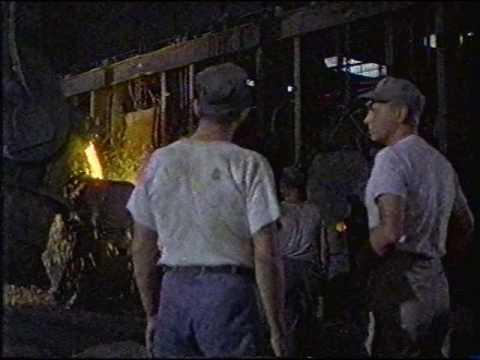 Kaiser Steel open hearth furnace scene from the movie