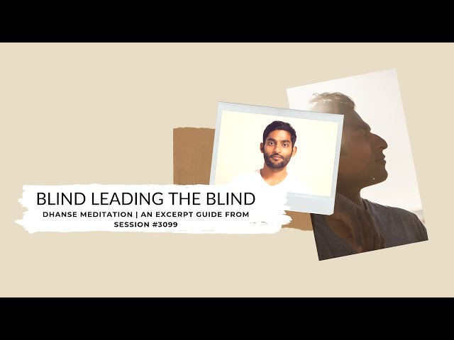 Blind Leading The Blind | An Excerpt Guide From Session #3099 | Dhyanse